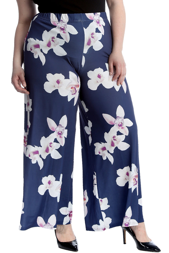 Bold Floral Print Palazzo Trousers