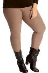 Plain Elastic Jeggings