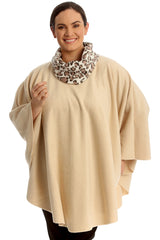 Leopard Print Snood Neck Poncho