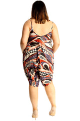 Abstract Print Slouch Jumpsuit