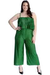 Pleated Frill Sleeveless Jumpsuit