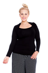 3142 Black Viscose Bolero Shrug