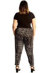 Abstract Animal Print Trousers