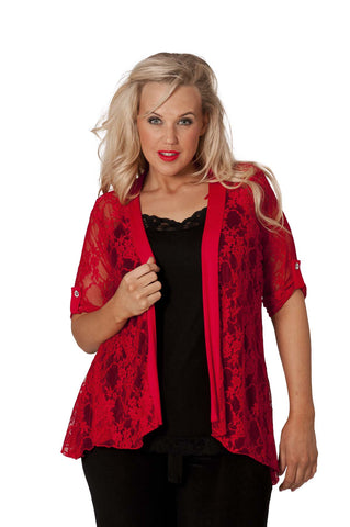 Diamante Button Sleeve Cardigan