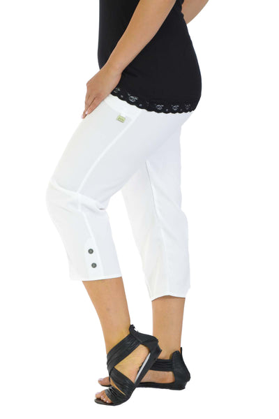 Cropped Tab Pocket Trousers