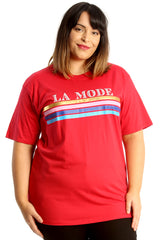 La Mode Print Cotton T-Shirt