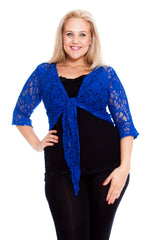 1091 Charcoal 2 Way Sequin Shrug