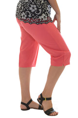 6058 Coral Plain Side Pockets Trouser