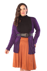 3146 Purple Space Dye  Cardigan
