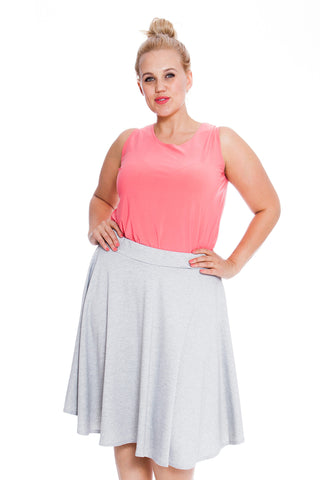 Plain Flared Skater Skirt