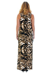 Abstract Print Maxi Dress