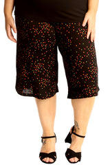 Multi Color Spot Print Culottes