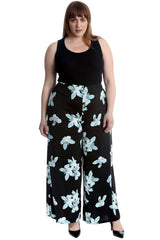 Floral Print Palazzo Trousers
