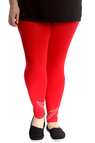 Angel Wings Stud Full Length Leggings