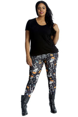 Dancing Skeleton Print Leggings