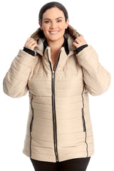 Fur Trim Quilted Paded Jacket