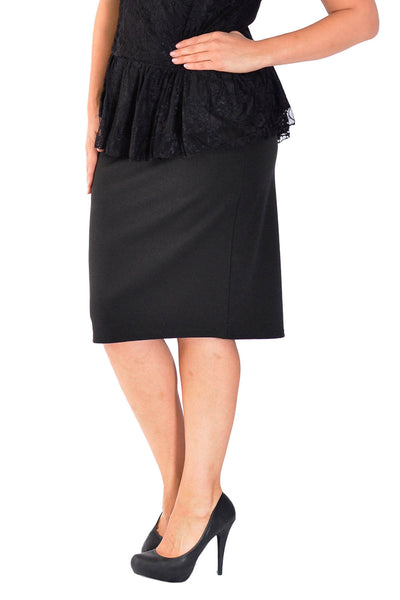 Plain Ponte Pencil Skirt