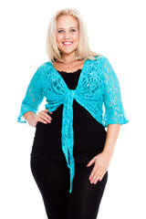 1091 Royal Blue Sequin Lace Shrug