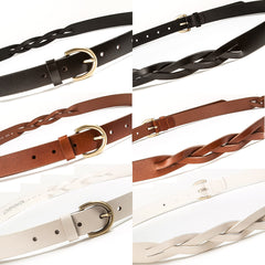 4016 Brown Criss Cross Faux Leather Belt