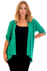 3058 Charcoal Open Waterfall Cardigan