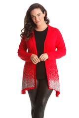 3173 Red Glitter Sequin Cardigan