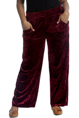 6087 Black Plain Velvet Trousers