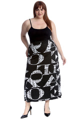 Love Print Mid Calf Skirt