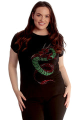 Oriental Dragon Stud T-Shirt