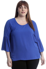 Plain Bell Frill Sleeve Top