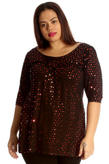 1000 Gold Dot Foil Smock Top