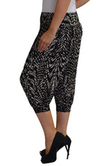 Cropped Animal Print Harem Trouser