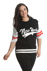 1403 Black New York Varsity T Shirt