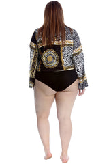Abstract Animal Print Bodysuit