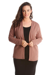 3166 Dusty Pink Knitted Cardigan