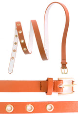 4011 Tan Eyelets Waist And Hip Belt