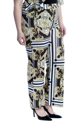 Chains & Tassels Print Trousers