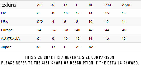 General Size Charts