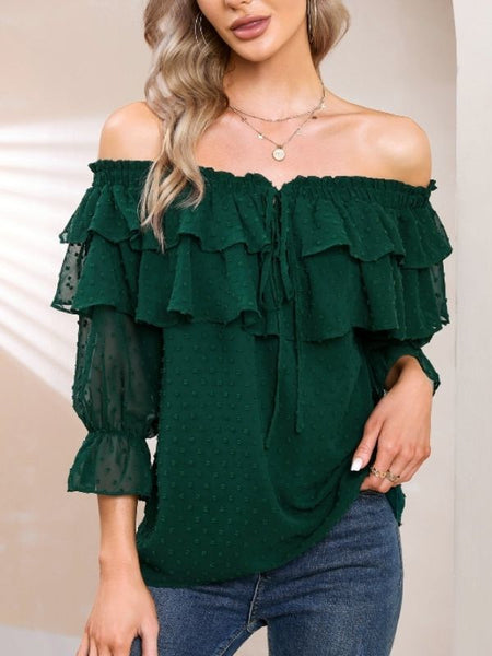 Exlura V Neck Sheer Loose Oversized Knitted Pullover Sweaters