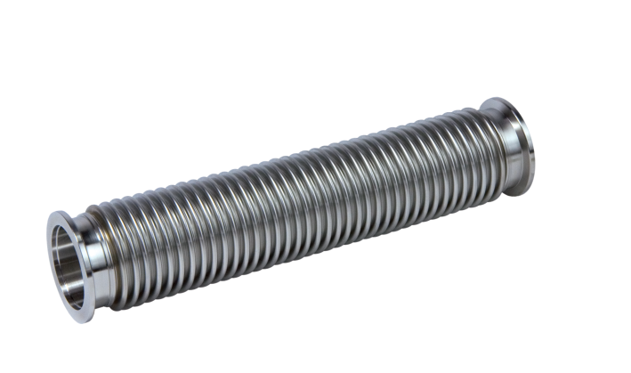 Corrugated Hose, DN 40 ISO-KF Stainless steel, flexible, length 1000 mm