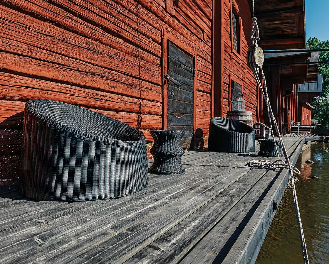 The perfect spot to crawl up in after the sauna
