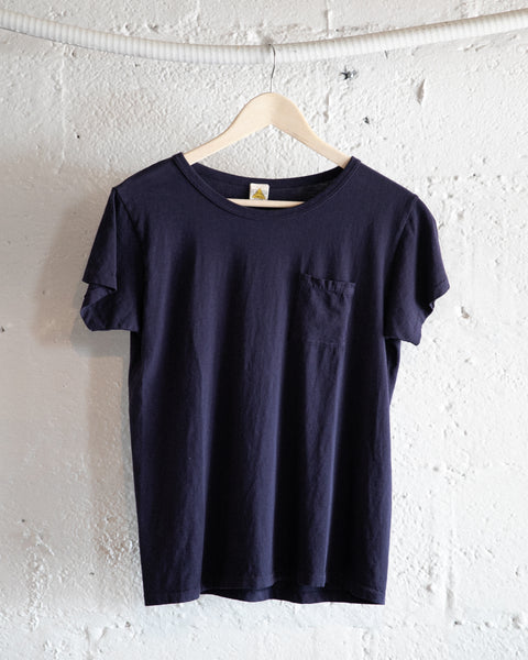 Navy Filth Mart Pocket Tee