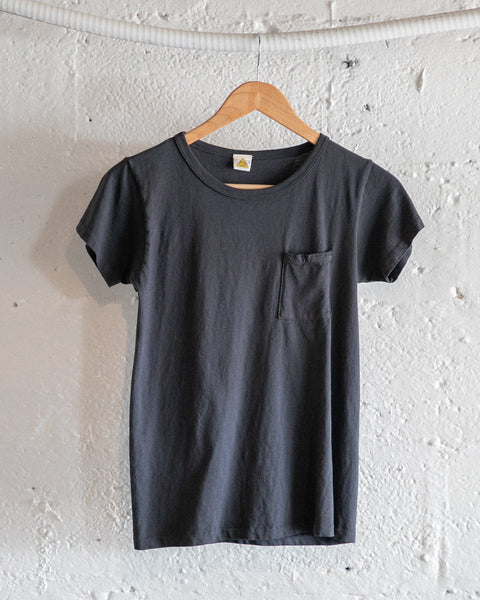 Faded Black Pocket Tee