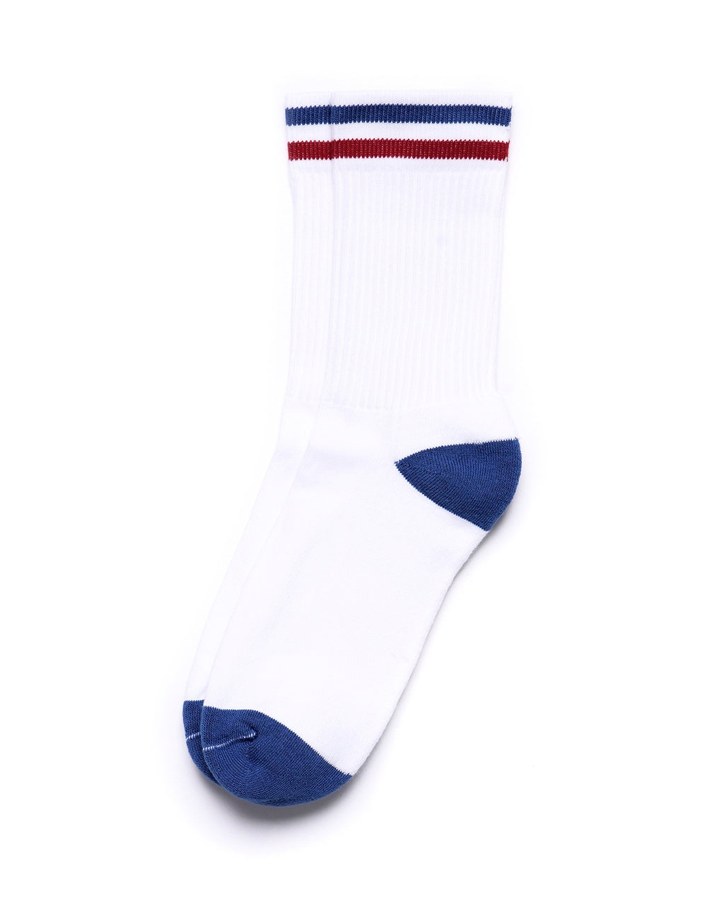 Kennedy Luxe Athletic Socks - Summer White Royal/Red