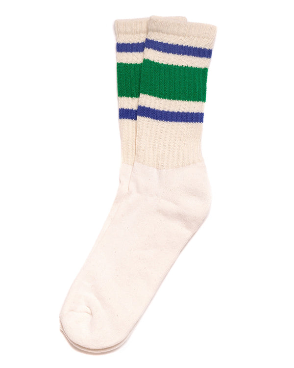 Retro Stripe Socks Green/Royal