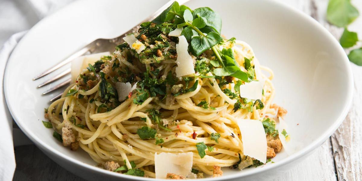 Pasta Kamut with Lemon and Fresh Herbs - Agrumia