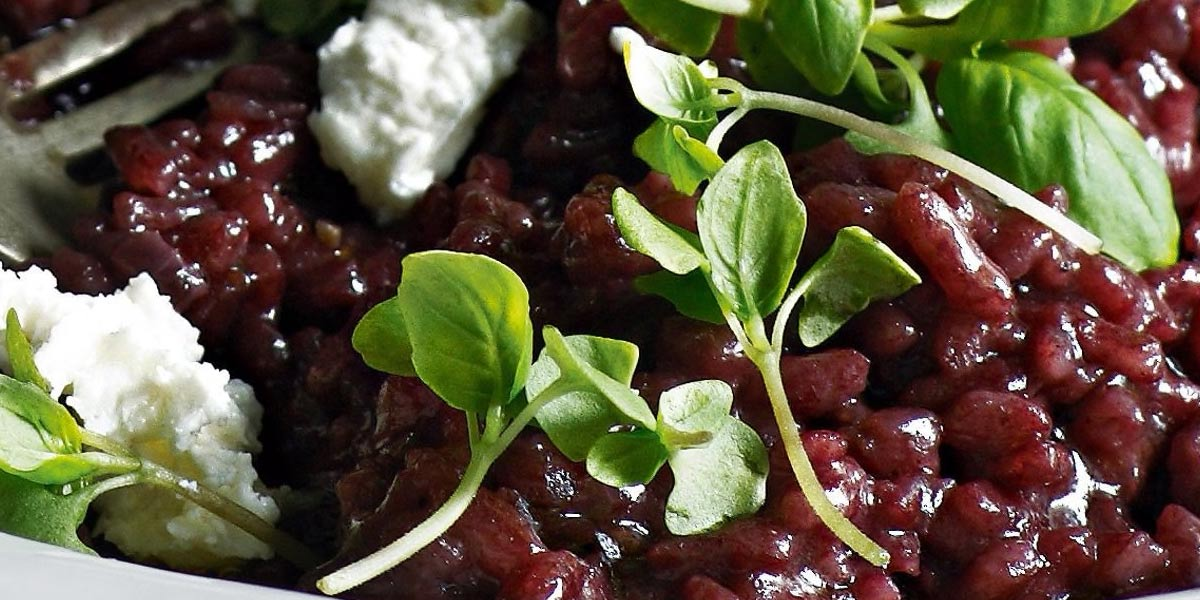 Barolo red wine risotto - Agrumia