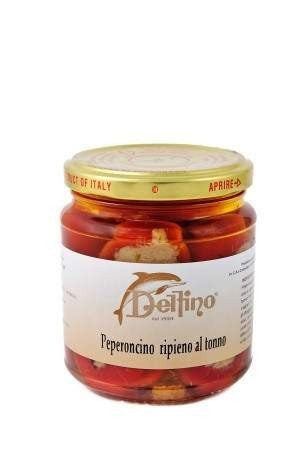 Tuna stuffed chilli Peppers in oil 314g. for £3.95 at Agrumia