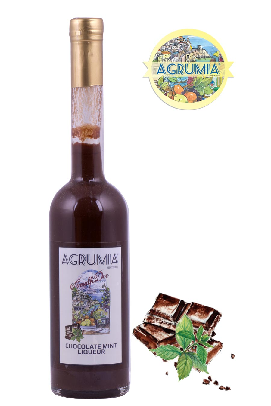 Agrumia Chocolate Mint Cream Liqueur 50cl - Agrumia