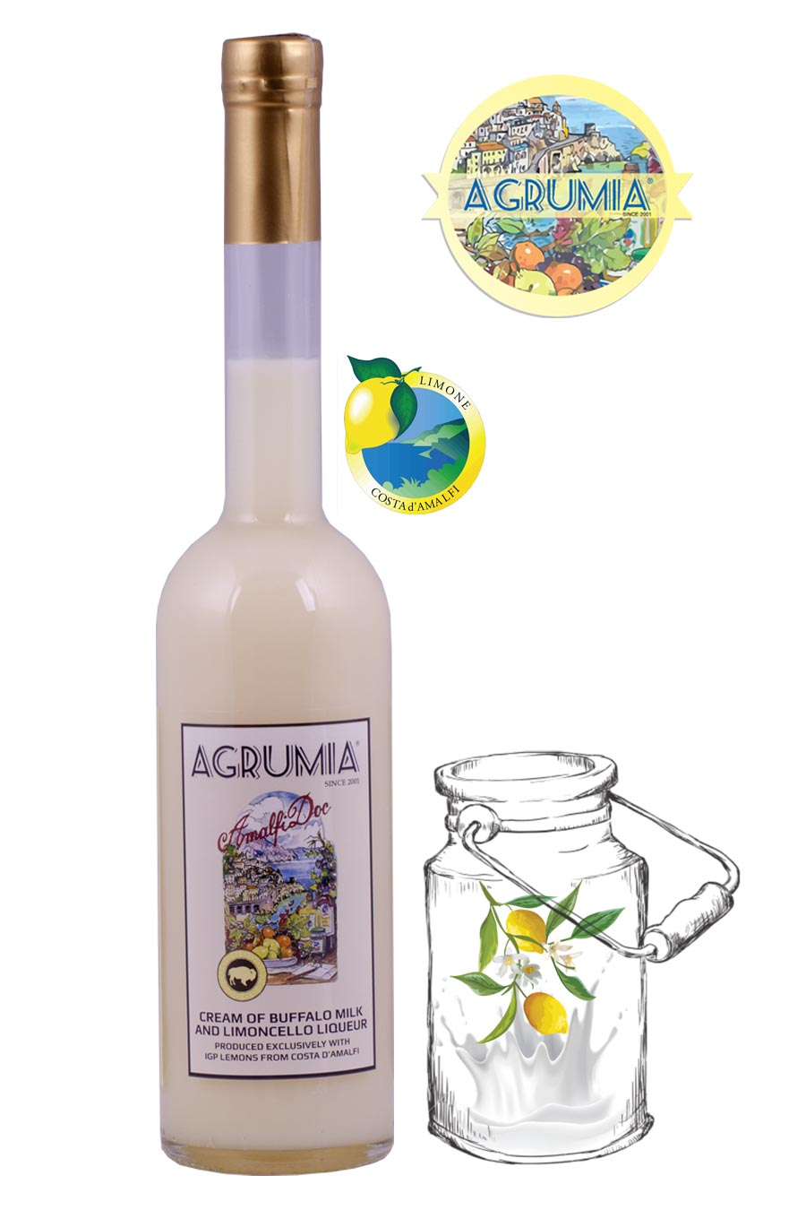 Agrumia Cream of Limoncello with Buffalo Milk 50cl