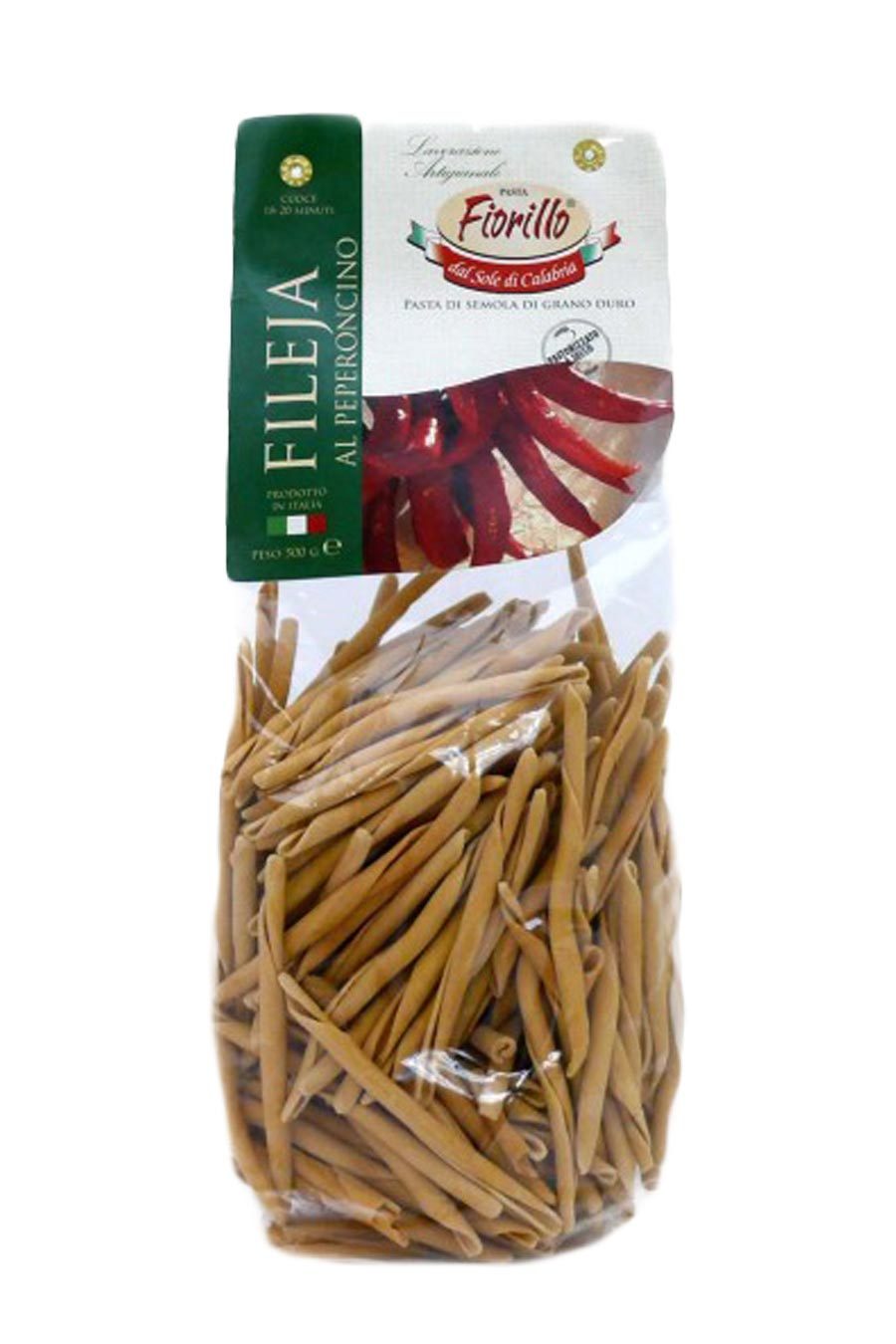 Fileja Pasta with Chilli Pepper 500g - Agrumia